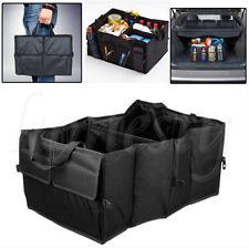 Black Car Interior Large Foldable Tidy Organiser Travel Storage Boot Bag Pockets