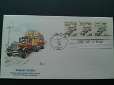 Fleetwood  Scott 2457 Coil Tractor Trailer  (10c)  1991 Coil 3   Stamp Cover