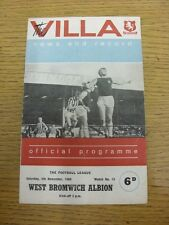 05/11/1966 Aston Villa v West Bromwich Albion  (Creased, Folded, Worn, Marked).