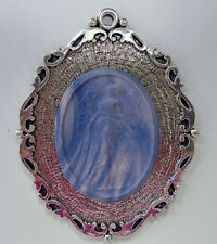 "Lg Wedgwood Oval Jasperware Cameo in Silver-Plated Pendant ""Fairy"""