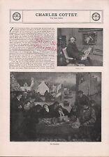 1911, Artikel von Carl Lahm Charles Cottet. Malerei Kunst