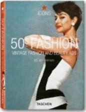 50s Fashion: Vintage Fashion and Beauty Ads Icons Series