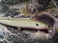 CUSTOM PAINTED MEGABASS VISION 110 STYLE JERKBAIT MINNOW FISHING LURE SHAD BAIT