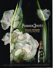 PUBLICITE ADVERTISING 015  2009  PERRIER-JOUET   champagne  BELLE EPOQUE