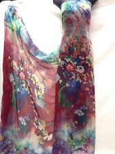 Designer Multicolour Chiffon Print Fabric Dress Craft wedding light