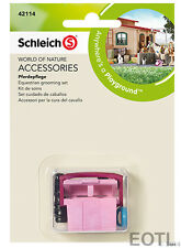NEW SCHLEICH 42114 Accessories - Equestrian Horse Grooming Set 4 Piece Play Set