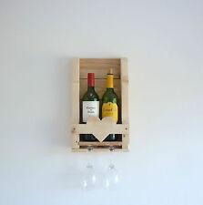 Detalle de corazón rústico de madera Botellero. gran regalo de bodas, aniversario, romántico