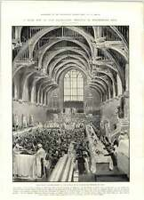 1905 Parliament Entertains French Naval Officers In Westminster Hall
