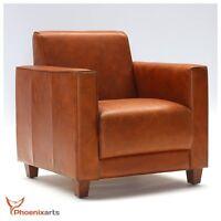 Echtleder Vintage Sessel Ledersessel Design Lounge Möbel Leder Clubsessel   541