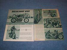 """Custom Harley-Davidson Drag Bike Vintage Article """"Breakaway Bike"""""""