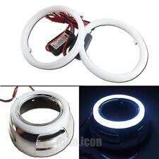 "2pcs High Quality PU White 3.0"" LED Cars HID Headlights Angel Eyes Halo Rings"