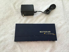 DS108 NETGEAR w/PSU ethernet switch Dual Speed Hub 10/100 MBPS 8port uplink