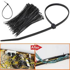 "New 1000Pcs 8"" inch Black Network 50 Lbs Zip Nylon Cable Cord Wire Tie Strap US"