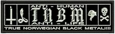 TRUE NORWEGIAN BLACK EMBROIDERED BACK PATCH TNBM TAAKE BACKPATCH Metal Negro