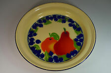 Grand Plateau Plat Tôle Emaillée Fruits Vintage Enameled Tray Fruits Design