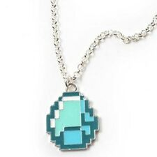 Minecraft Diamond Necklace Game Anime Jewelry NEW