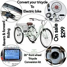 "Electric Bike,48V 1000 W 26"" Front Wheel Kit ,Ebike Conversion Kit.no Battery"