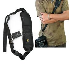Tracolla Cinghia Spalla Nero 118cm Universale DSLR Fotocamera Anti Stanchezza