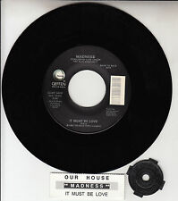 """MADNESS  Our House & It Must Be Love 7"""" 45 rpm record NEW + juke box title strip"""