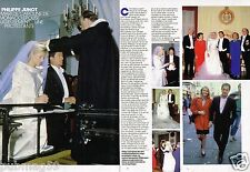 Coupure de Presse Clipping 1987 (2 pages) mariage Philippe Junot