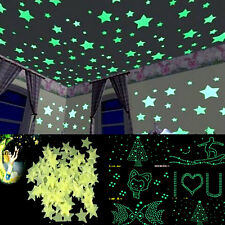 100pcs Beauty Glow In The Dark Star Wal Stickers Decals Home Baby Kid Room Decor
