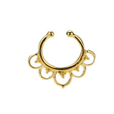 Fad Fake Septum Nose Rings Faux Piercing Nose Hoop Nose Studs Body Jewelry