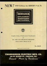 Rare 1938-39 Thordarson Broadcast Receivers Replacement Transformer Encyclopedia
