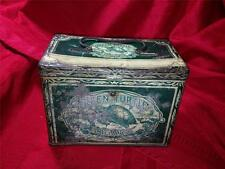 ANTIQUE GREEN TURTLE CIGARS, TOBACCO ADVERTISING TIN/LUNCHPAIL    VERY NICE/RARE