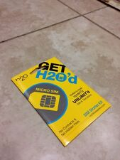 H2O Wireless Prepaid Micro SIM Card with Pay as you go $10(Read Description)