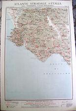 1920 CARTA GEOGRAFICA CILENTO - LAGONEGRO TOURING. POLLICA, LAURINO, TEGIANO,...