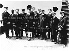 Photo: Captain Arthur Rostron & The Crew Of The Carpathia, Titanic Rescue Ship