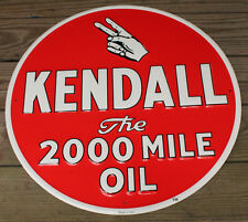 Large 24'' Embossed Kendall Oil Vintage Style Metal Signs Man Cave Decor Gas