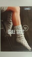 Patons Pattern Leaflet #0020 Cable Socks to Knit in Patons Totem 8 Ply Wool