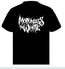 Motionless In White Logo   Music punk rock t-shirt  S-M-L- XL -XXL NEW