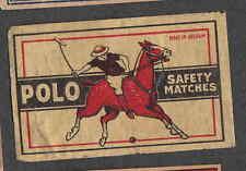 Ancienne   étiquette Allumettes Belgique    BN2549 Polo Cheval