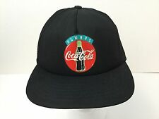 Vintage USA ALWAYS COCA COLA Snapback Hat Cap Classic Logo Black EXCELLENT