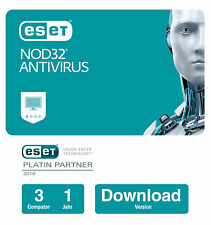 ESET NOD32 Antivirus 2017 | 3 PCs - 1 Jahr | Download-Version