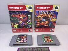BANJO- TOOIE & BANJO - KAZOOIE (Nintendo 64 N64) W/CUSTOM CASES AND ARTWORK !!!