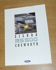 Ford Sierra RS Cosworth RS500 Brochure 1987