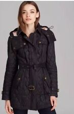 Womens Burberry Brit Finsbridge Belted Quilted Jacket XS, SMALL In Stock NWT
