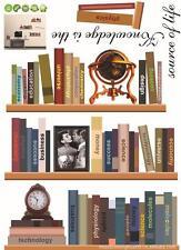 New Bookshelf Book Study Wall Decal Sticker Wall Art Home Decor 105CM