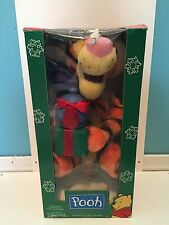 Disney Winnie The Pooh Telco Motionette Tigger With Box Christmas Decoration