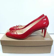 Christian Louboutin Red Patent Basico 70 Calf Pumps Shoes 38 NIB $700
