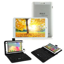 "iRULU 8"" Tablet PC Android 5.1 Quad Core 16GB IPS Bluetooth HDMI w/ Keyboard New"