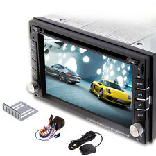 """GPS 6.2"""" 2 DIN In Dash Car CD/DVD Player TouchScreen Stereo Bluetooth free Cam"""