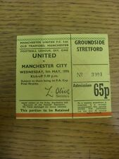 04/05/1976 Ticket: Manchester United v Manchester City [Ticket Dated 05/05/1976