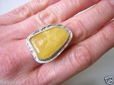 Butterscotch Natur Bernstein Silber Ring Amber Schmuck Gewicht 7,0 g /18,3 mm