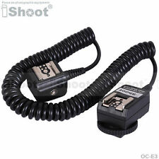 Flash SYNC E-TTL Off-Camera Dual Hot-Shoe Cord Cable/corde/câble for Canon OC-E3