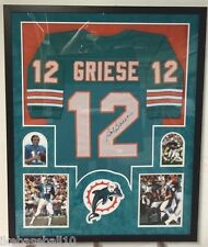 FRAMED BOB GRIESE AUTOGRAPHED SIGNED MIAMI DOLPHINS JERSEY JSA COA
