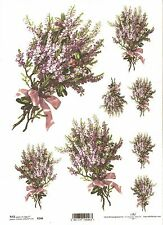Rice Paper for Decoupage Scrapbooking Bunch Purple Flowers ITD R246